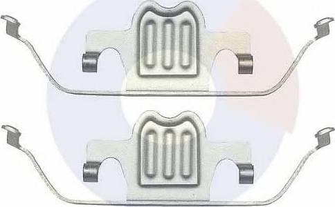 Carrab Brake Parts 2379 - Piederumu komplekts, Disku bremžu uzlikas interparts.lv