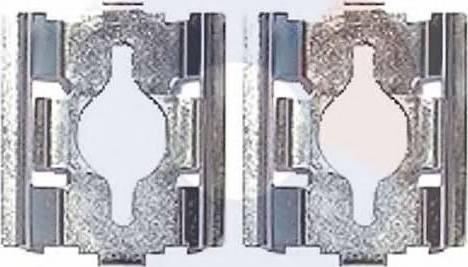 Carrab Brake Parts 2375 - Piederumu komplekts, Disku bremžu uzlikas interparts.lv