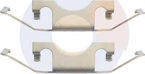 Carrab Brake Parts 2370 - Piederumu komplekts, Disku bremžu uzlikas interparts.lv