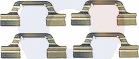 Carrab Brake Parts 2373 - Piederumu komplekts, Disku bremžu uzlikas interparts.lv
