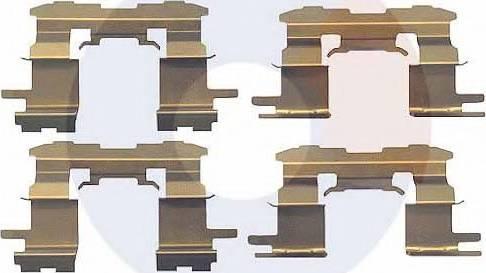 Carrab Brake Parts 2299 - Piederumu komplekts, Disku bremžu uzlikas interparts.lv