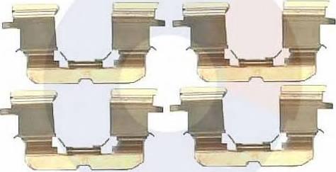 Carrab Brake Parts 2290 - Piederumu komplekts, Disku bremžu uzlikas interparts.lv