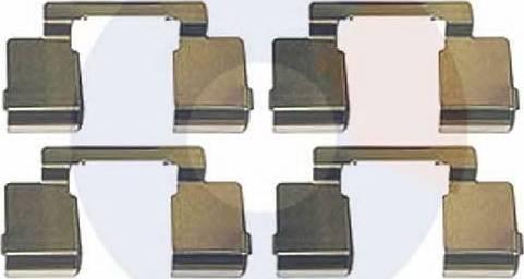 Carrab Brake Parts 2291 - Piederumu komplekts, Disku bremžu uzlikas interparts.lv