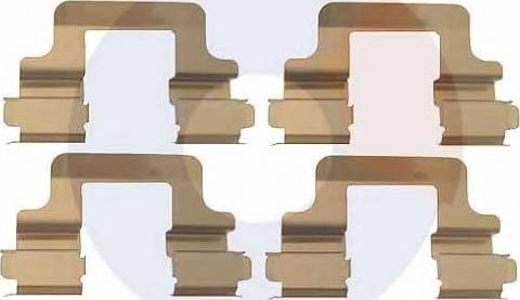 Carrab Brake Parts 2298 - Piederumu komplekts, Disku bremžu uzlikas interparts.lv