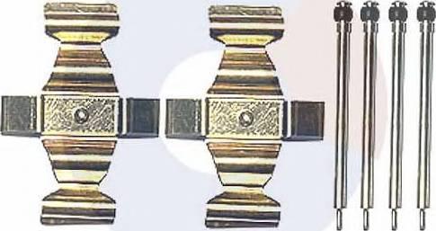 Carrab Brake Parts 2293 - Piederumu komplekts, Disku bremžu uzlikas interparts.lv