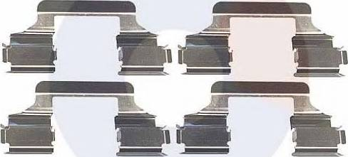 Carrab Brake Parts 2292 - Piederumu komplekts, Disku bremžu uzlikas interparts.lv