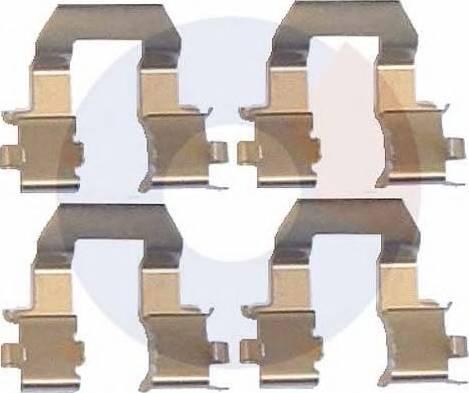 Carrab Brake Parts 2245 - Piederumu komplekts, Disku bremžu uzlikas interparts.lv