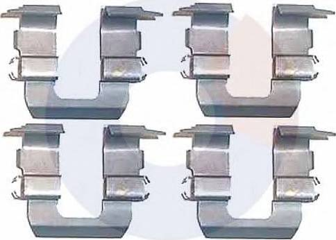 Carrab Brake Parts 2248 - Piederumu komplekts, Disku bremžu uzlikas interparts.lv