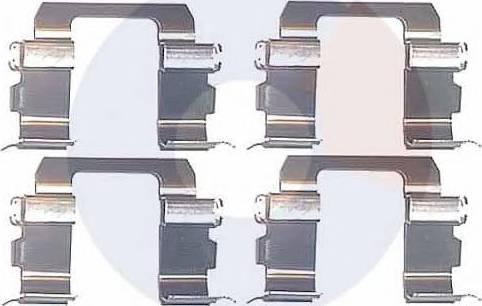 Carrab Brake Parts 2242 - Piederumu komplekts, Disku bremžu uzlikas interparts.lv