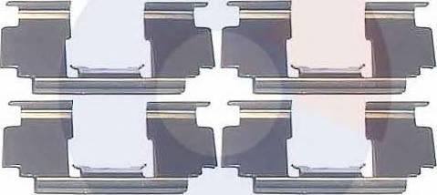 Carrab Brake Parts 2254 - Piederumu komplekts, Disku bremžu uzlikas interparts.lv