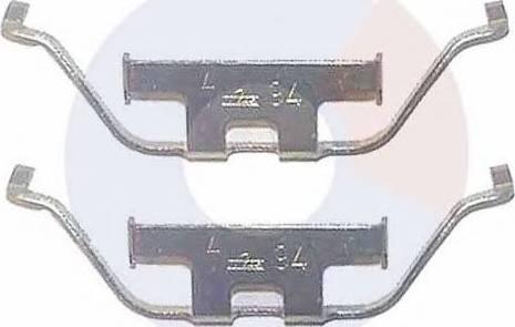 Carrab Brake Parts 2258 - Piederumu komplekts, Disku bremžu uzlikas interparts.lv