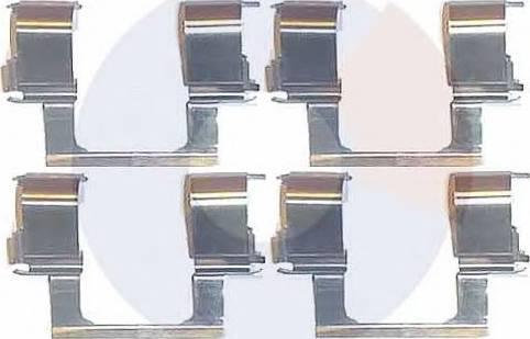 Carrab Brake Parts 2252 - Piederumu komplekts, Disku bremžu uzlikas interparts.lv