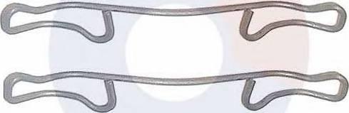 Carrab Brake Parts 2257 - Piederumu komplekts, Disku bremžu uzlikas interparts.lv