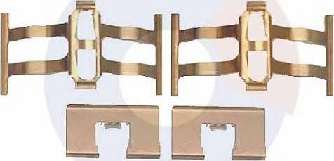 Carrab Brake Parts 2264 - Piederumu komplekts, Disku bremžu uzlikas interparts.lv