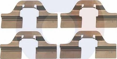 Carrab Brake Parts 2266 - Piederumu komplekts, Disku bremžu uzlikas interparts.lv