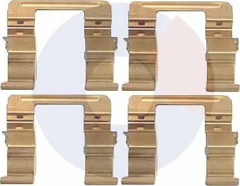 Carrab Brake Parts 2262 - Piederumu komplekts, Disku bremžu uzlikas interparts.lv