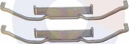 Carrab Brake Parts 2204 - Piederumu komplekts, Disku bremžu uzlikas interparts.lv