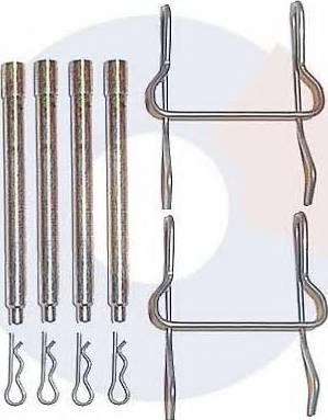 Carrab Brake Parts 2205 - Piederumu komplekts, Disku bremžu uzlikas interparts.lv