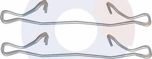 Carrab Brake Parts 2219 - Piederumu komplekts, Disku bremžu uzlikas interparts.lv