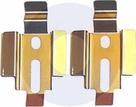 Carrab Brake Parts 2210 - Piederumu komplekts, Disku bremžu uzlikas interparts.lv