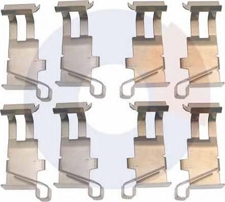 Carrab Brake Parts 2289 - Piederumu komplekts, Disku bremžu uzlikas interparts.lv