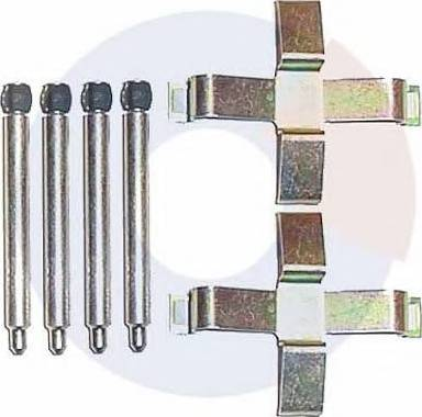 Carrab Brake Parts 2228 - Piederumu komplekts, Disku bremžu uzlikas interparts.lv