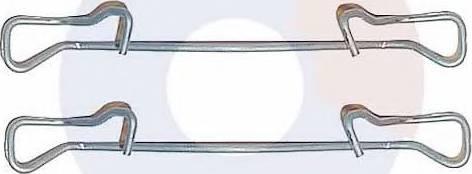 Carrab Brake Parts 2223 - Piederumu komplekts, Disku bremžu uzlikas interparts.lv