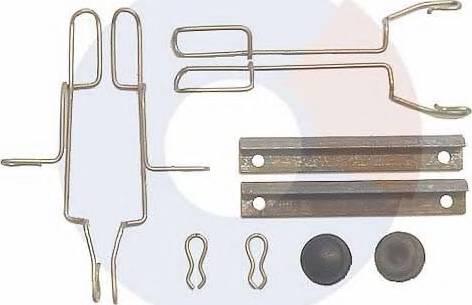 Carrab Brake Parts 2222 - Piederumu komplekts, Disku bremžu uzlikas interparts.lv