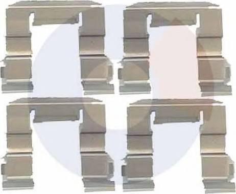 Carrab Brake Parts 2275 - Piederumu komplekts, Disku bremžu uzlikas interparts.lv