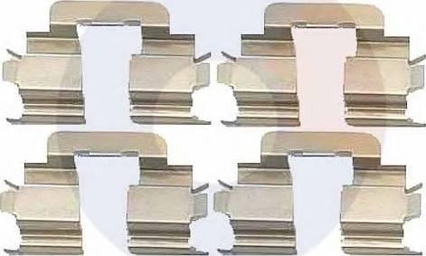 Carrab Brake Parts 2278 - Piederumu komplekts, Disku bremžu uzlikas interparts.lv