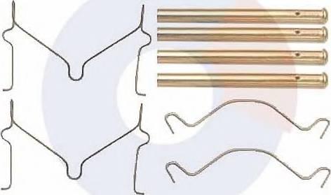 Carrab Brake Parts 2273 - Piederumu komplekts, Disku bremžu uzlikas interparts.lv