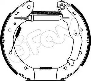 Cifam 151-067 - Bremžu komplekts, trumuļa bremzes interparts.lv