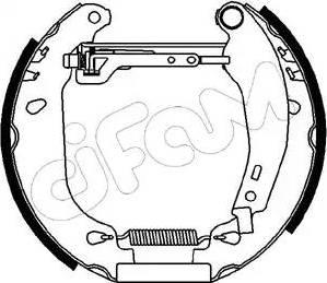 Cifam 151-004 - Bremžu komplekts, trumuļa bremzes interparts.lv
