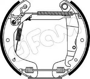 Cifam 151-081 - Bremžu komplekts, trumuļa bremzes interparts.lv