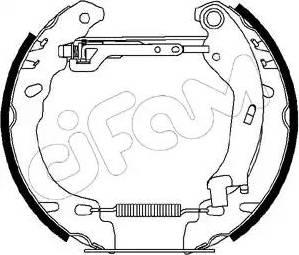 Cifam 151-194 - Bremžu komplekts, trumuļa bremzes interparts.lv