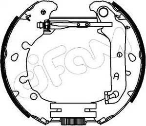 Cifam 151-153 - Bremžu komplekts, trumuļa bremzes interparts.lv