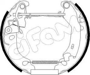 Cifam 151-181 - Bremžu komplekts, trumuļa bremzes interparts.lv
