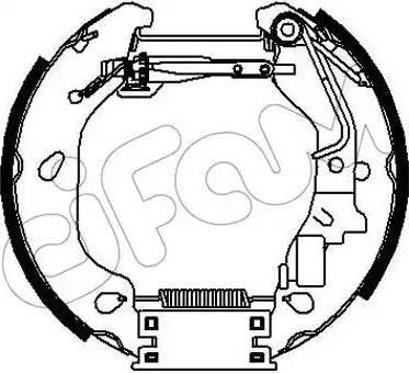 Cifam 151-319 - Bremžu komplekts, trumuļa bremzes interparts.lv