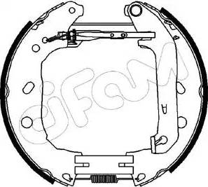 Cifam 151-230 - Bremžu komplekts, trumuļa bremzes interparts.lv