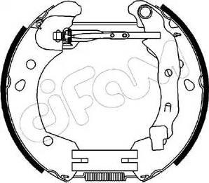 Cifam 151-231 - Bremžu komplekts, trumuļa bremzes interparts.lv
