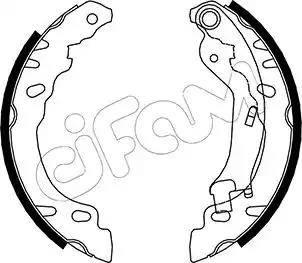 Cifam 153-090 - Bremžu komplekts, trumuļa bremzes interparts.lv
