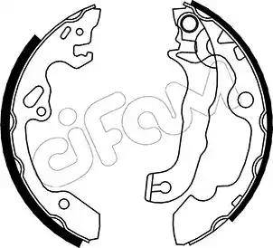 Cifam 153-133 - Bremžu komplekts, trumuļa bremzes interparts.lv