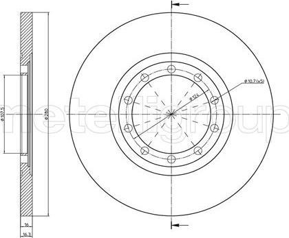 Cifam 800-998C - Bremžu diski interparts.lv