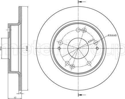 Cifam 800-957C - Bremžu diski interparts.lv