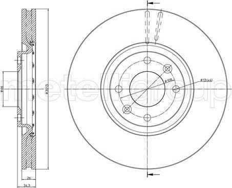 Cifam 800-985C - Bremžu diski interparts.lv