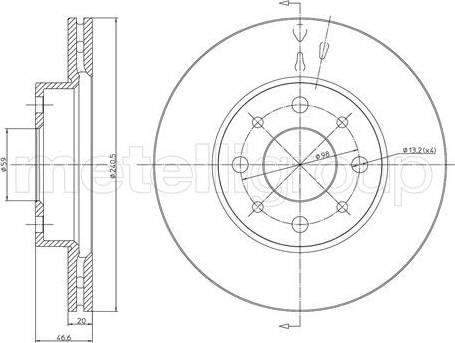 Cifam 800-496 - Bremžu diski interparts.lv