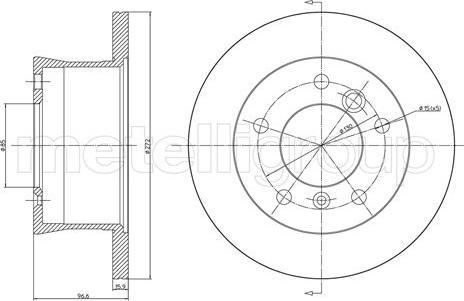 Cifam 800-492 - Bremžu diski interparts.lv