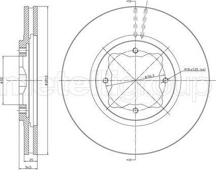 Cifam 800-497 - Bremžu diski interparts.lv