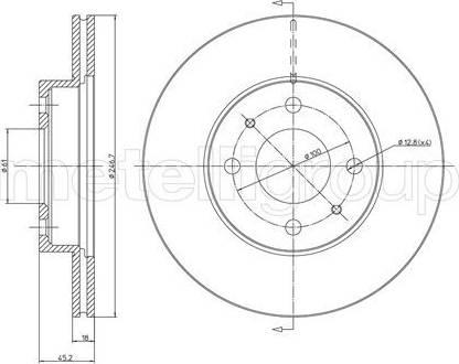 Cifam 800-456 - Bremžu diski interparts.lv