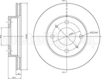 Cifam 800-457 - Bremžu diski interparts.lv